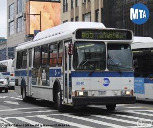 Układanka Autobusy miejskie Nowy Jork