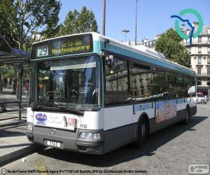 Układanka Autobusy miejskie z Paryża