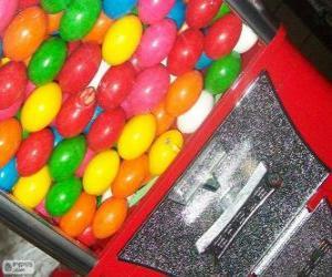 Układanka Automat sprzedający Guma do żucia piłka