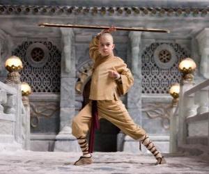 Układanka Avatar Aang jest głównym bohaterem przygody i jego przeznaczenie jest opanowanie czterech żywiołów: powietrza, wody, ziemi i ognia