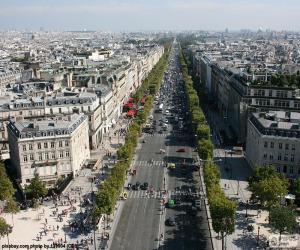 Układanka Avenue des Champs-Élysée, Paryż