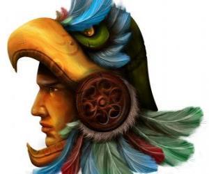 Układanka Aztec wojownik