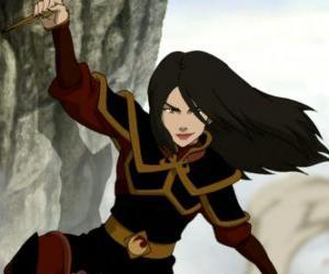 Układanka Azula jest Princess of Fire Nation i młodszy siostra Zuko