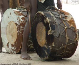 Układanka Bębnów afrykańskich