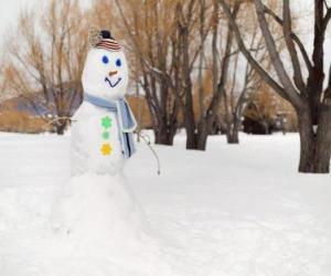 Układanka Bałwan śniegowy