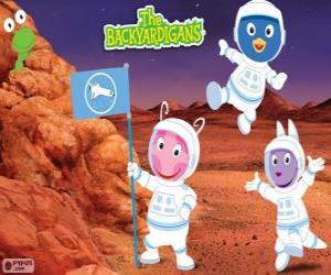 Układanka Backyardigans astronauci przybyli na Marsa