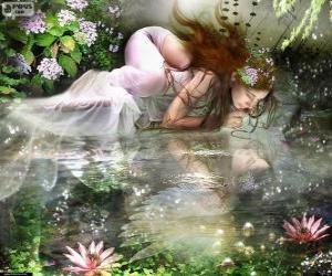Układanka Bajki Ondina, są wodne nimfy spektakularne piękno
