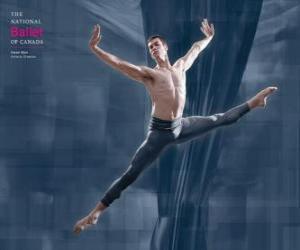 Układanka Balet - Dancer w akcji