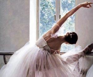 Układanka Baletnica ćwiczeń z baru