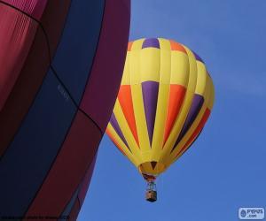 Układanka Balon gorącego powietrza żółty