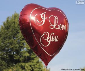 Układanka Balon miłości