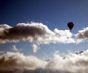 Układanka Balon w chmurach