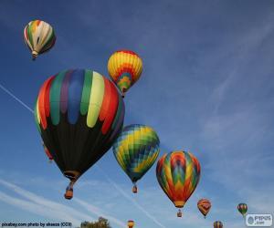 Układanka Balony w powietrzu