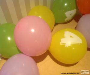 Układanka Balony z numerami