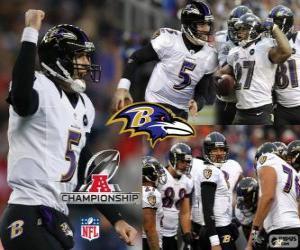 Układanka Baltimore Ravens mistrz AFC 2012