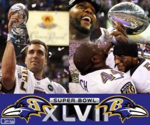 Układanka Baltimore Ravens Super Bowl 2013 Mistrzów
