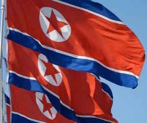 Układanka Banderą Korei Północnej