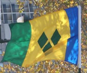 Układanka Banderą Saint Vincent i Grenadyny