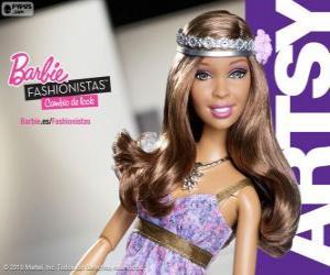 Układanka Barbie Fashionista Artsy