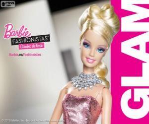 Układanka Barbie Fashionista Glam