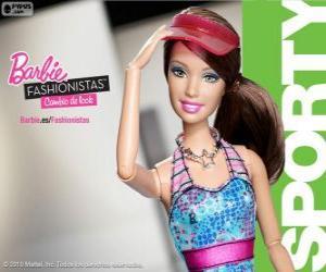 Układanka Barbie Fashionista Sporty