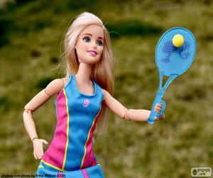Układanka Barbie gra tenis