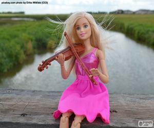 Układanka Barbie gry na skrzypcach