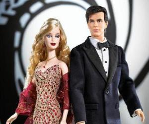 Układanka Barbie i Ken bardzo eleganckie