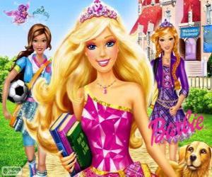 Układanka Barbie Princess w szkole