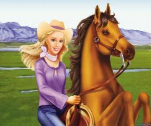 Układanka Barbie z pięknego konia
