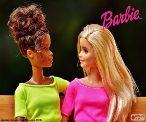 Układanka Barbie z przyjaciółką