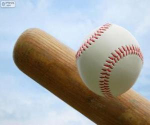 Układanka Baseball bat i piłka