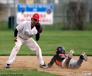 Układanka Baseball dotrzeć do bazy