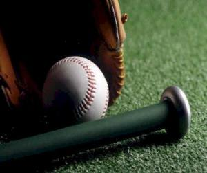 Układanka Baseball, rękawiczki i bat