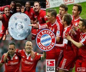 Układanka Bayern Monachium mistrz 2013-2014