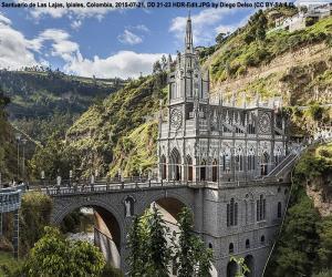Układanka Bazylika Las Lajas, Kolumbia
