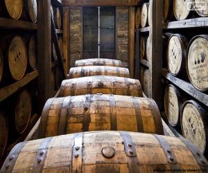 Układanka Beczki whisky