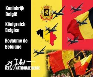 Układanka Belgijskie obchodzony jest 21 lipca. W 1831 roku pierwszy belgijski król przysiągł wierność Konstytucji