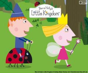 Układanka Ben, Holly i Gaston, trzech wspaniałych przyjaciół w małe Królestwo