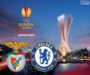 Układanka Benfica vs Chelsea. Europa League 2012-2013 finał w Amsterdam Arena, Holandia