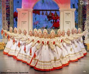 Układanka Beriozka, klasyczny taniec rosyjski