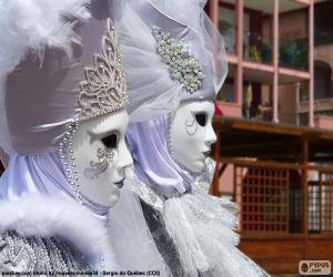 Układanka Białe maski