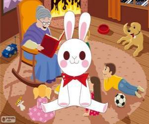 Układanka Biały królik z bajki