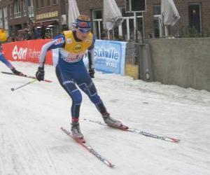 Układanka Biegacz narciarski
