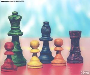 Układanka Bierka szachowa