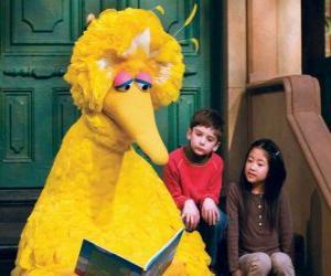 Układanka Big Bird czytanie bajki