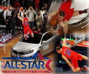 Układanka Blake Griffin jest nowym królem 2011 NBA Slam Dunk