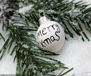 Układanka Boże Narodzenie ball, Mery Xmas