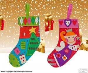 Układanka Boże Narodzenie buty