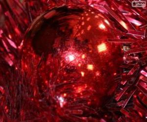 Układanka Boże Narodzenie czerwony piłka